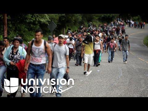Pese a las advertencias de EEUU y México, la caravana de migrantes continúa su recorrido