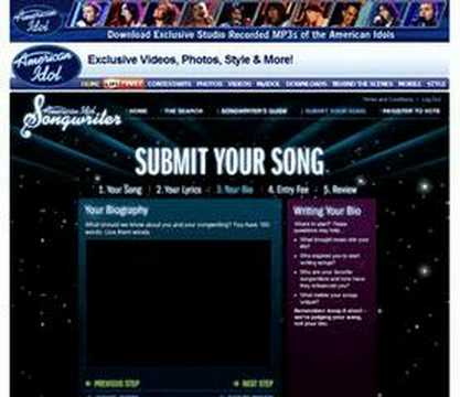 American Idol Songwriter Song Submission Walkthrough