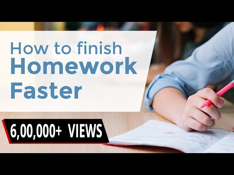 How to Finish your Homework Faster? | Homework Tips for Students | LetsTute