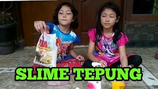 MEMBUAT SLIME DARI TEPUNG TERIGU - DIY SLIME (MUDAH)