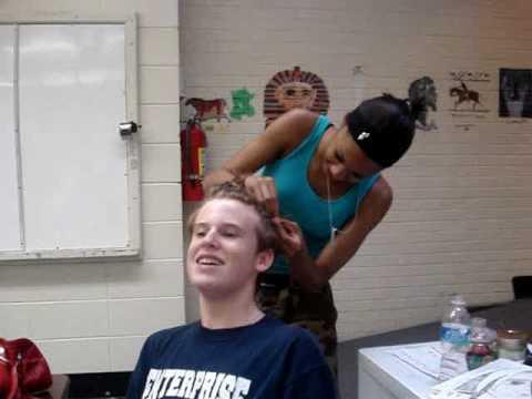 Nick Gets His Hair Did White Boy Braids Youtube