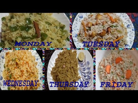 MONDAY TO FRIDAY EASY LUNCH BOX RECIPES||INSTANT RICE RECIPES||RAMA SWEET HOME