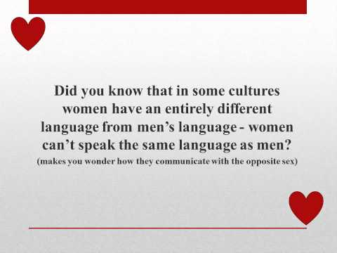 how and why do women and men speak differently She offers various reasons why women tend to speak differently from men as well as ronald wardhaugh, in his an introduction to sociolinguistics, offers his studies about various linguists concentrating on the gender speech differences.