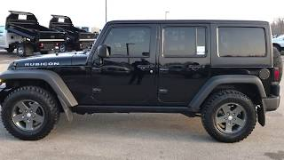 2011 USED JEEP WRANGLER UNLIMITED 4 DOOR RUBICON WALK AROUND REVIEW FOND DU LAC SOLD! 8T126B SUMMIT