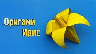 Как сделать ирис из бумаги своими руками (Оригами)