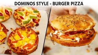 Burger Pizza - Dominos Style Recipe - CookingShooking