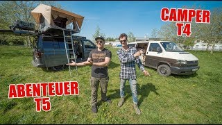 XL ROOMTOUR ! - Camper VW T4 vs. Adventure T5 ! | ItsMarvin und Mathisox