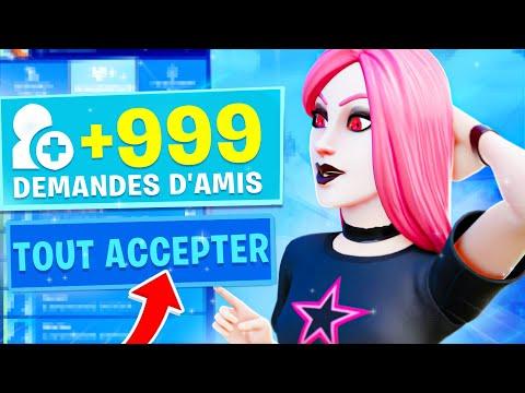 J'ACCEPTE TOUTES MES DEMANDES D'AMIS SUR FORTNITE ! (CACHE CACHE)