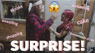 surprising our best friend for her birthday (emotional)
