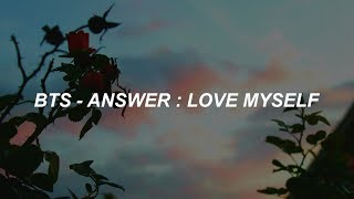 BTS (방탄소년단) 'Answer : Love Myself' Easy Lyrics