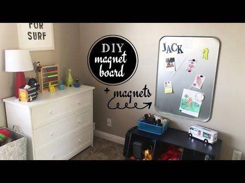 DIY Easy Magnet Board + DIY Magnets