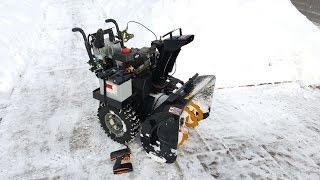 Remote control snow blower modification - tips & tricks