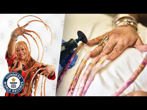 Cutting The World's Longest Fingernails - Guinness World Records
