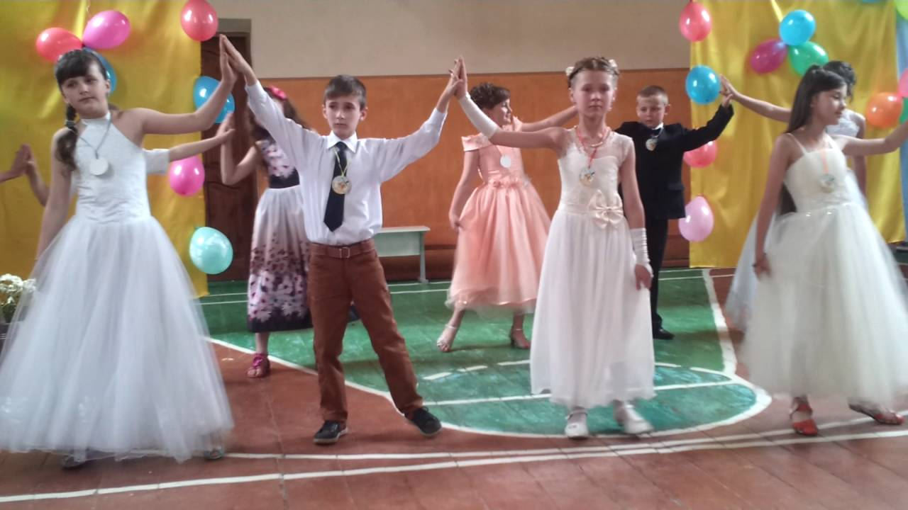 рекламе необходим танець вальс дівчат на випускний в 4 класі Лазерные