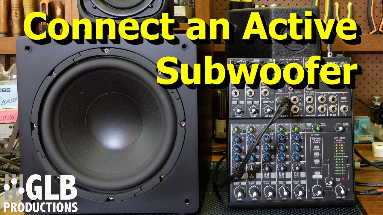 how to connect an active subwoofer to a sound reinforcement system rh youtube com Best Amplified Car Subwoofer bazooka amplified subwoofer wiring diagram