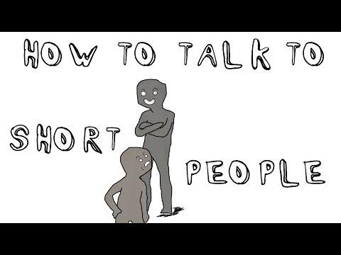 Как правильно разговаривать с низкими людьми мем