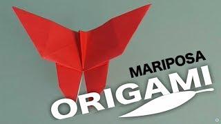 Cómo hacer una mariposa de papel. Origami