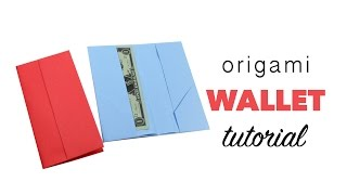 Easy Origami Wallet Tutorial ♥︎ DIY ♥︎