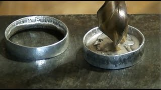 Repeat youtube video Make Rings out of Coins