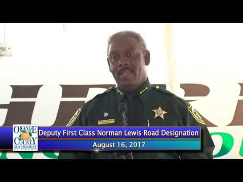 Press Conference | Deputy First Class Norman Lewis Road Designation Ceremony