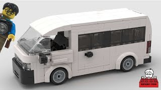 LEGO MOC #24 Toyota HiAce Van Stop Motion Speed Build by Minifigures トヨタハイエースバン (Instruction below)