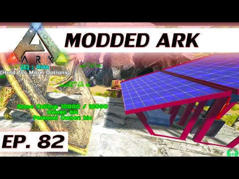 ★ Modded ARK: Survival Evolved - Ep 82 - Solar panel - single player let's play s3 - solo