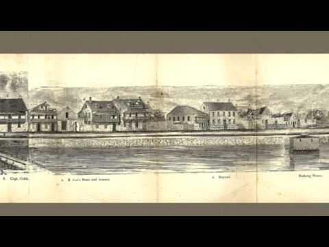 St  Augustine Florida 1855 Panoramic Bird's Eye View Map 7476