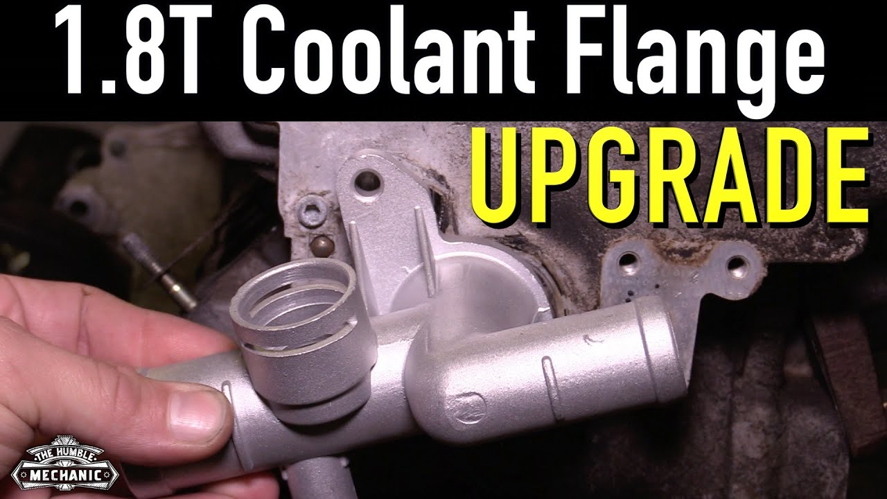 small resolution of vw 1 8t aluminum coolant flange upgrade