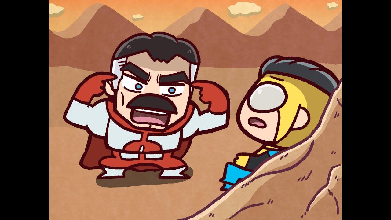 인빈시블:  띵크 마크, 띵크! 요약 애니메이션 (Invincible: Think Mark, Think! / Omni-Man VS. Invincible Summary anime)