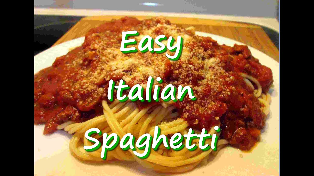How to make easy homemade italian spaghetti recipe youtube how to make easy homemade italian spaghetti recipe forumfinder Choice Image