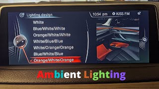BMW Ambient Light coding for F15 F16 F85 F86 series using bimmercode app