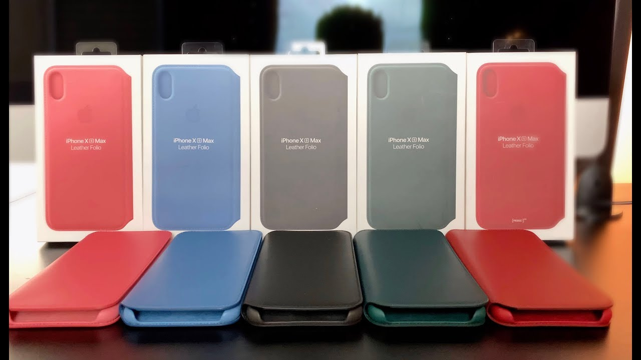 the best attitude c6cf1 ea749 Apple Leather Folio Case for iPhone XS // iPhone XS Max - Review (ALL  Colors!)