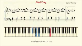 "How To Play Piano: Daniel Powter ""Bad Day"" Piano Tutorial by Ramin Yousefi"
