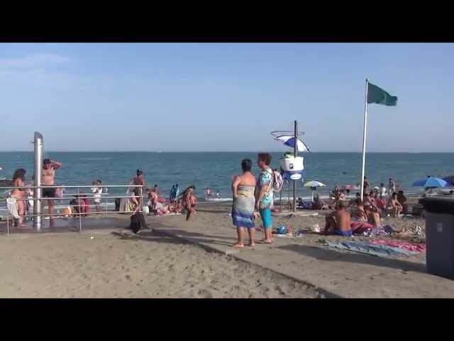 City Beach Malaga. Summer Weather, July. Andalucia, Costa del Sol, Spain
