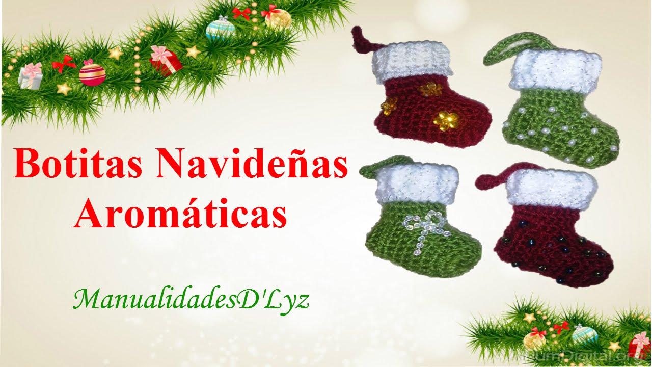 Botitas navideñas aromáticas a crochet paso a paso - YouTube