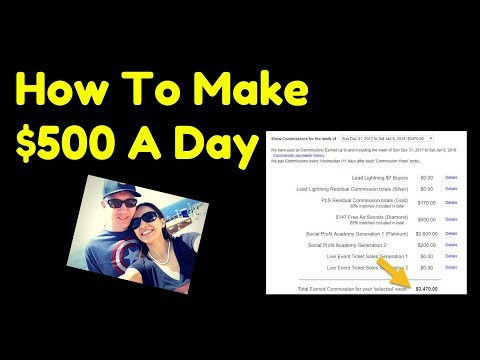How To Make 500 Dollars A Day - Residual Income - Best Way To Make Money Online