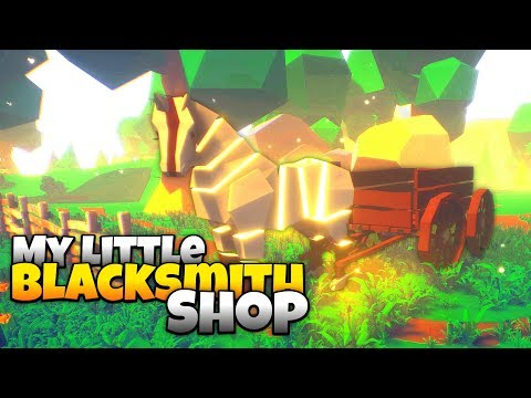 Huge New Update - New Horse and Exploring the Mysterious Cave! - My Little Blacksmith Shop Gameplay
