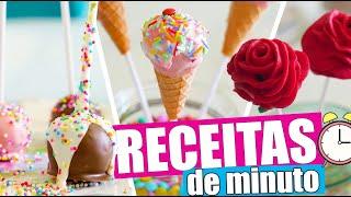 RECEITAS DE MINUTO: CAKE POPS FOFINHOS   KIM ROSACUCA