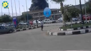 بالفيديو: اللحظات الأولى لحريق مستودع شركة السويس لتصنيع البترول