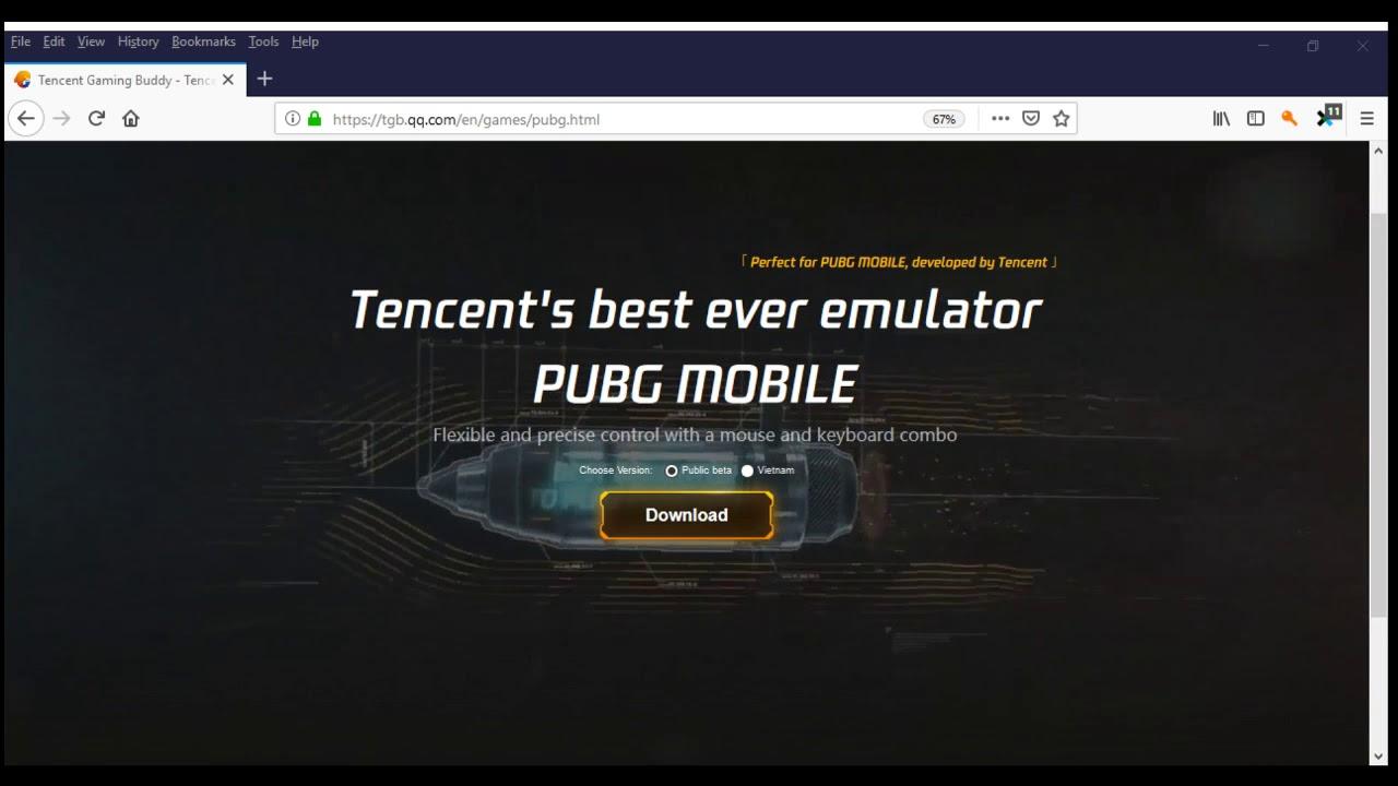 تحميل محاكى لعبة ببجى موبايل على الكمبيوتر من الموقع الرسمى للشركه