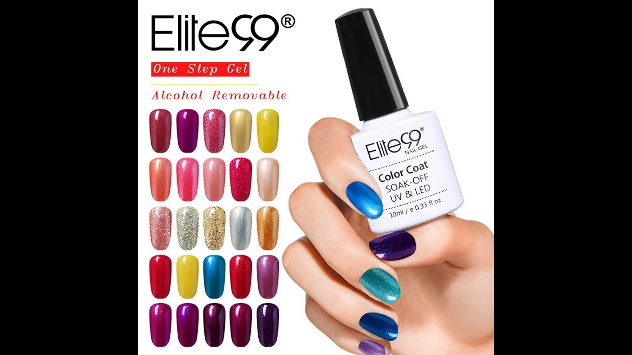 Elite99 One Step Gel Polish Alcohol Removal 3-in-1 No Need Base Top ...