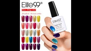 Elite99 One Step Gel Polish Alcohol Removal 3-in-1 No Need Base Top Coat Shiny Nail Art Varnish