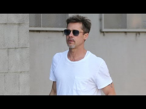Brad Pitt Looks Stunningly Handsome in White Tee Shows Off Tattoo: See the Pic!