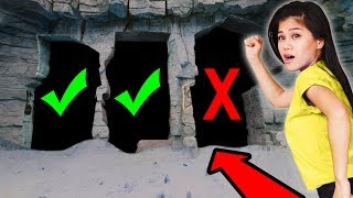 DO NOT CRAWL THROUGH the WRONG HIDDEN SECRET UNDERGROUND TUNNEL in ABANDONED ZOO Challenge