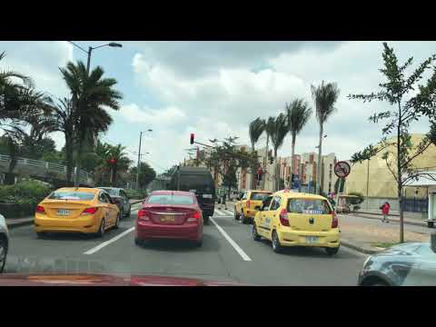 Driving in Bogota Colombia on a Sunday afternoon