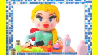 FROZEN ELSA NEW MAKE UP  ❤ Spiderman, Hulk & Frozen Play Doh Cartoons For Kids