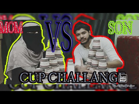 Download Cup Challenge with Mom | Mom vs son Challenge | Tamil vlog in Kuwait  | Nabil Atrocities | 15 Cups |