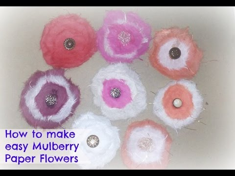 How to make easy mulberry flowers / DIY Paper flowers