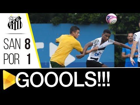 Santos 8 x 1 Portuguesa Santista | GOLS | Jogo-treino (11/01/18)