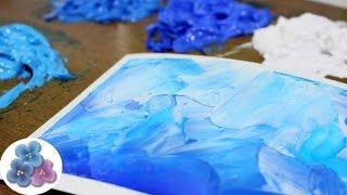 Como Hacer Pintura al Oleo con Pintura Acrilica *Acrylic Paint* Tutorial Tecnicas de Pintura Facil